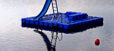ponton flottant